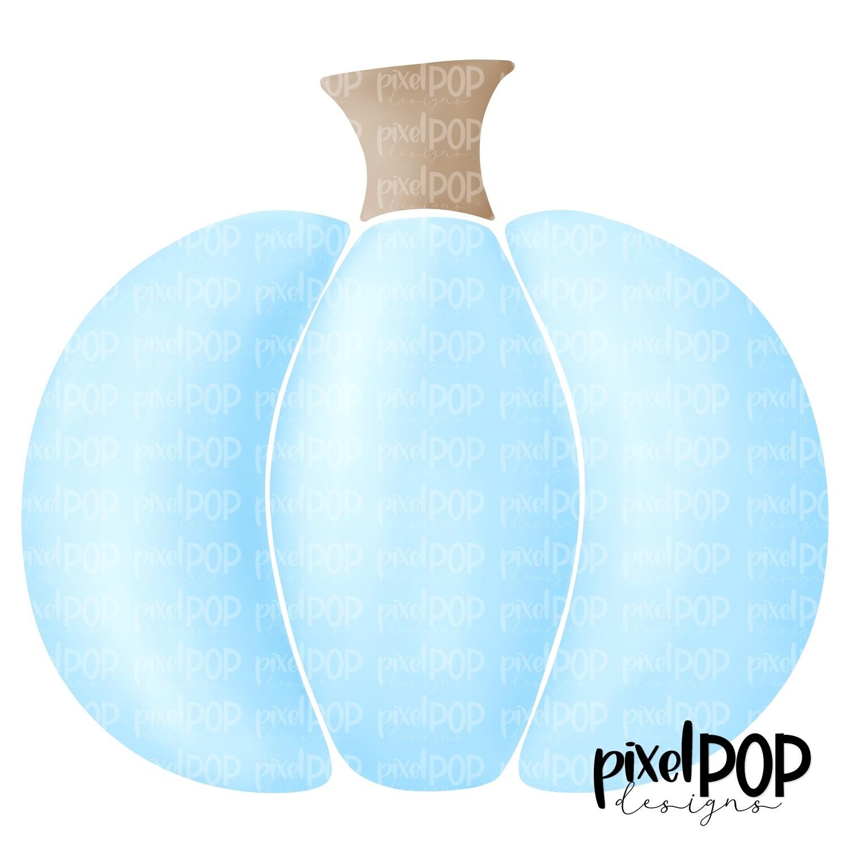 Sweet Painted Pumpkin Blue PNG   Pastel Pumpkin   Pumpkin   Pumpkin PNG Design   Hand Painted Design   Fall Art   Fall Design   Fall Art