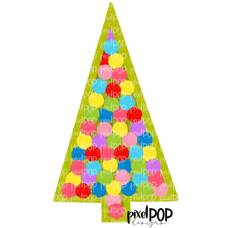 Twinkling Tree Green PNG | Christmas Tree | Christmas Art Hand Drawn Design | Sublimation PNG | Digital Download | Printable Artwork | Art