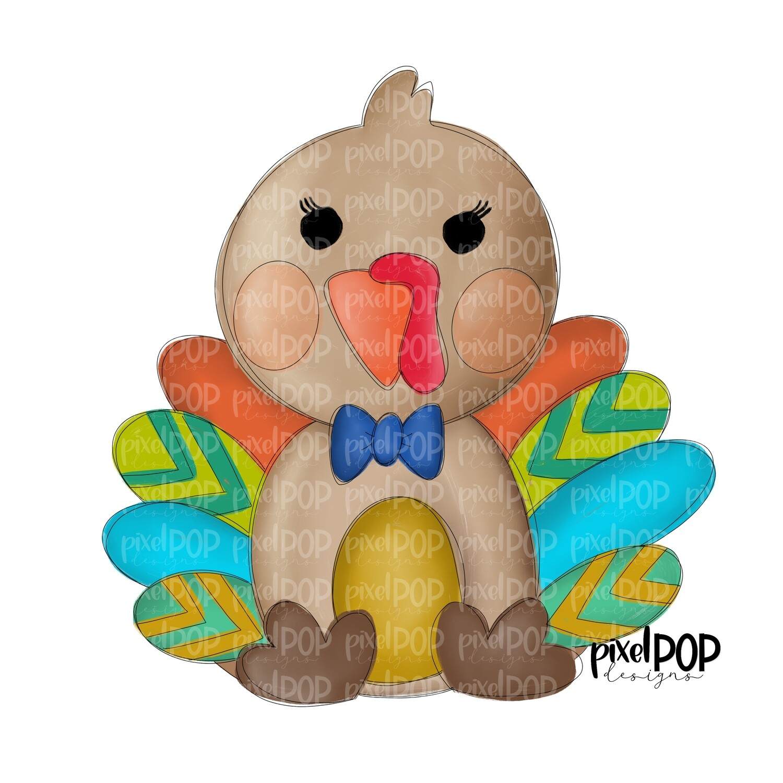 Little Turkey Boy PNG | Cute Turkey Sublimation | Turkey Design Digital Art | Sublimation Art | Thanksgiving | Digital Download | Art