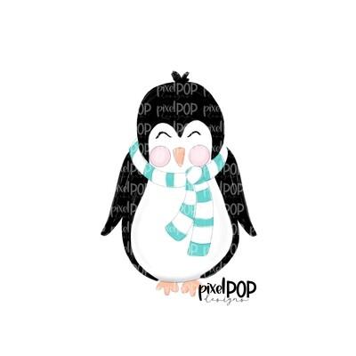 Penguin Boy with Scarf PNG | Penguin Digital | Christmas Digital | Winter | Christmas Art | Snow | Digital Download | Printable Artwork