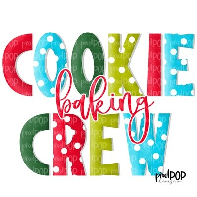 Cookie Baking Crew Lime PNG | Holiday Baking | Christmas Art | Cookie Design | Holiday Design | Digital Download | Printable Art | Christmas