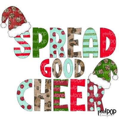 Spread Good Cheer PNG | Holiday Design | Christmas Art | Christmas Digital | Holiday Design | Digital Download | Printable Art | Christmas