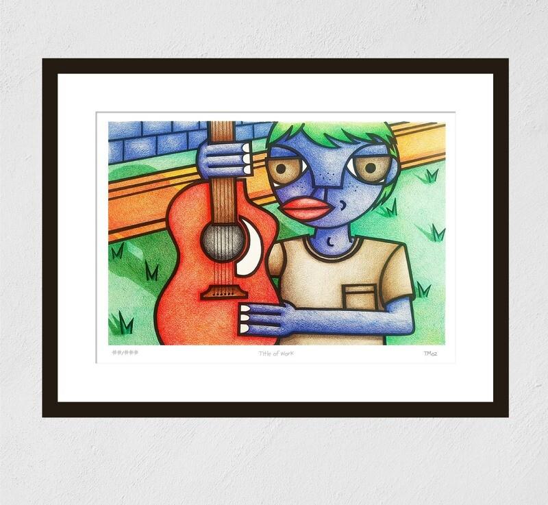 The Guitar Player (print)