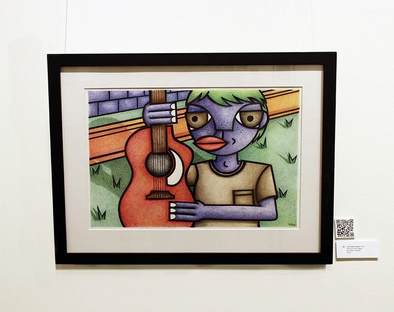 The Guitar Player (Framed original)