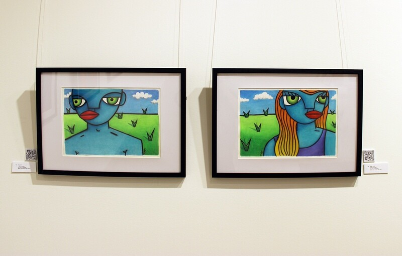 HIS & HERS (sold as pair - framed original)