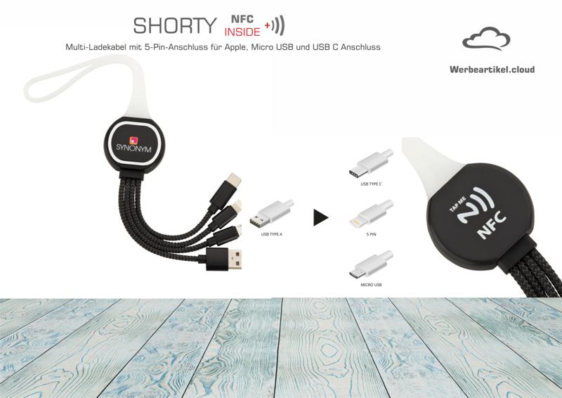 NFC-Ladekabel 3-IN-1 SHORTY