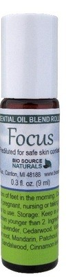 Focus Essential Oil Blend - 0.3 fl oz (9 ml) Roll On
