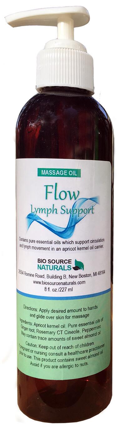 FLOW - Lymph Support Essential Oil Massage Blend    Pump - 8 fl oz (240 ml)