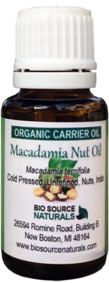 Macadamia Nut, Organic Carrier Oil - 1 fl oz (30 ml)