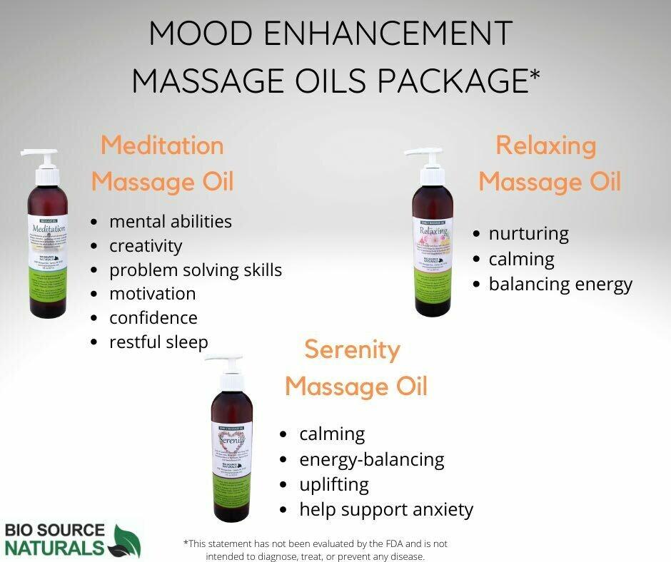 Mood Enhancement Massage Oils Package, each 8 fl oz (227 ml) (3 Pack)