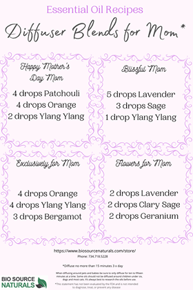 FREE Recipes:  Diffuser Blends for Mom