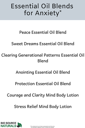 FREE Essential Oil Blends for Anxiety Chart