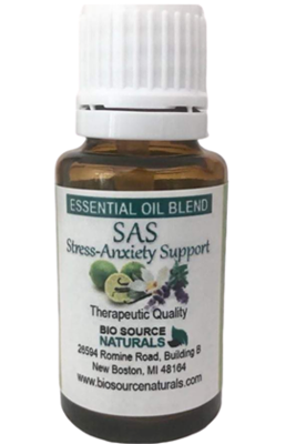 SAS! Stress-Anxiety Support Essential Oil Blend - Aromatherapy - Therapeutic Quality