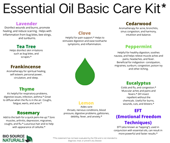 FREE Essential Oils Basic Kit Chart
