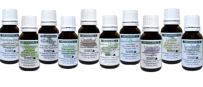 Special Set of 10 Pure Essential Oils (Basic Kit) - 0.5 fl oz (15 ml) each