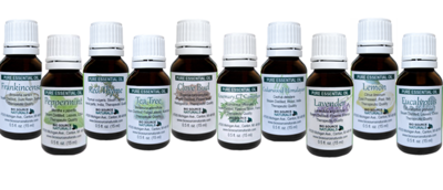 Special Set of 10 Pure Essential Oils (Basic Kit) - 0.5 fl oz (15 ml) each