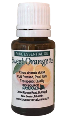 Orange Sweet, 5X Pure Essential Oil with Analysis Report