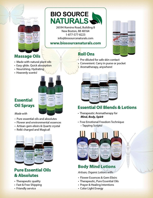 Bio Source Naturals Product Line Bulletins