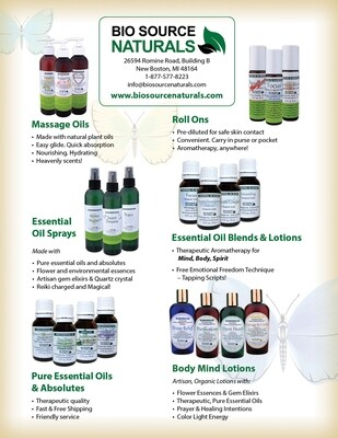 Bio Source Naturals Product Line Bulletins