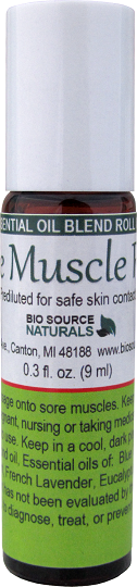 Sore Muscle Rub Essential Oil Blend - 0.3 fl oz (9 ml) Roll On