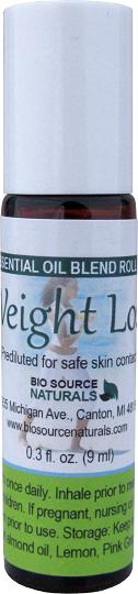 Weight Loss Essential Oil Blend - 0.3 fl oz (9 ml) Roll On