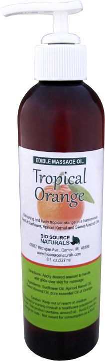 Edible Tropical Orange Massage Oil 8 fl oz (227 ml)