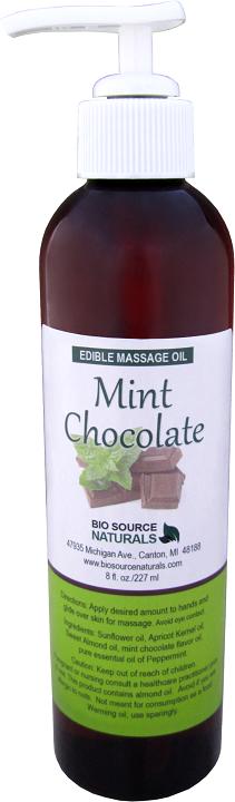 Edible Mint Chocolate Massage Oil 8 fl oz (227 ml)