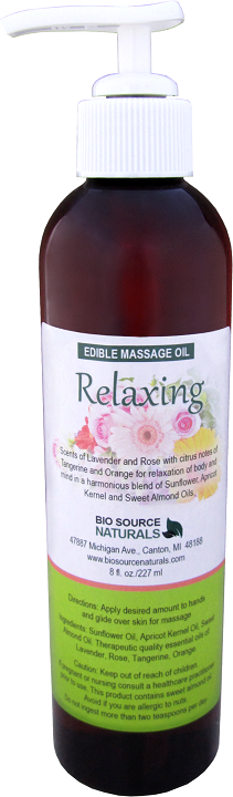 Edible Relaxing Massage Oil 8 fl oz (227 ml)