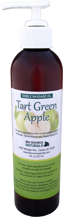 Edible Tart Green Apple Massage Oil 8 fl oz (227 ml)