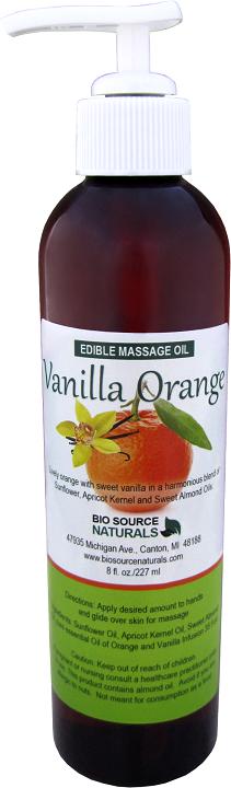 Edible Orange Vanilla Massage Oil 8 fl oz (227 ml)
