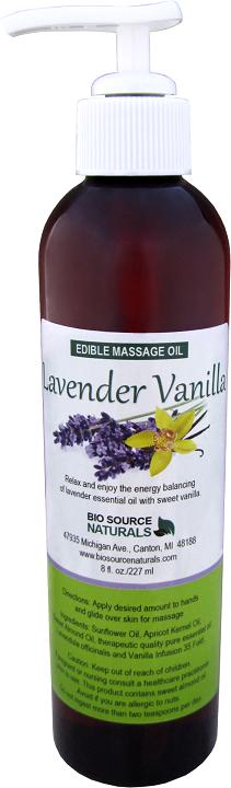 Edible Lavender Vanilla Massage Oil 8 fl oz (227 ml)