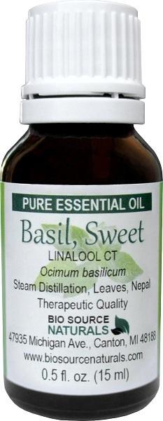 Basil (Sweet) Pure Essential Oil - Linalool CT