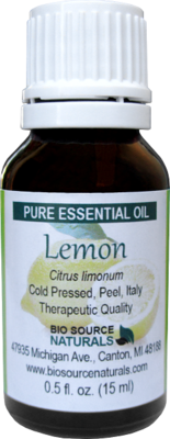 Lemon Pure Essential Oil with Analysis Report
