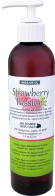 Strawberry Passion Massage Oil 8 fl oz (227 ml)