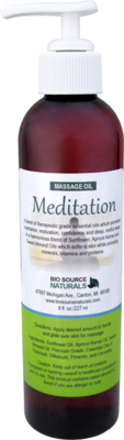 Meditation Massage Oil 8 fl oz (227 ml)