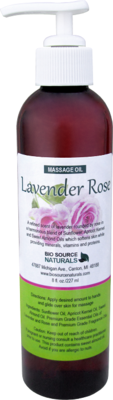 Lavender Rose Massage Oil 8 fl oz (227 ml)