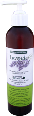 Edible Lavender Massage Oil 8 fl oz (227 ml)