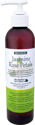 Jasmine Rose Petals Massage Oil 8 fl oz (227 ml)