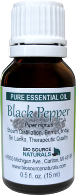 Black Pepper Pure Essential Oil with Analysis Report
