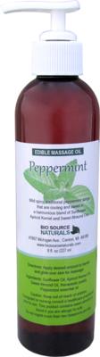 Edible Peppermint Massage Oil 8 fl oz (227 ml)