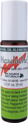 Headache Relief Essential Oil Blend - 0.3 fl oz (9 ml) Roll On