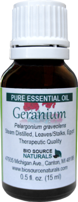 Geranium Pure Essential Oil with Analysis Report