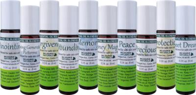 Success Set to Attract Abundance - 10 Essential Oil Blend Roll Ons - 0.3 fl oz (9 ml)