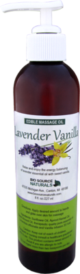 Edible Lavender Vanilla Massage Oil 8 fl oz (227 ml)