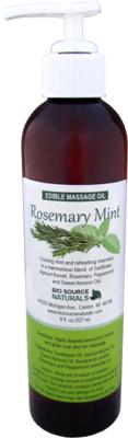 Edible Rosemary Mint Massage Oil 8 fl oz (227 ml)