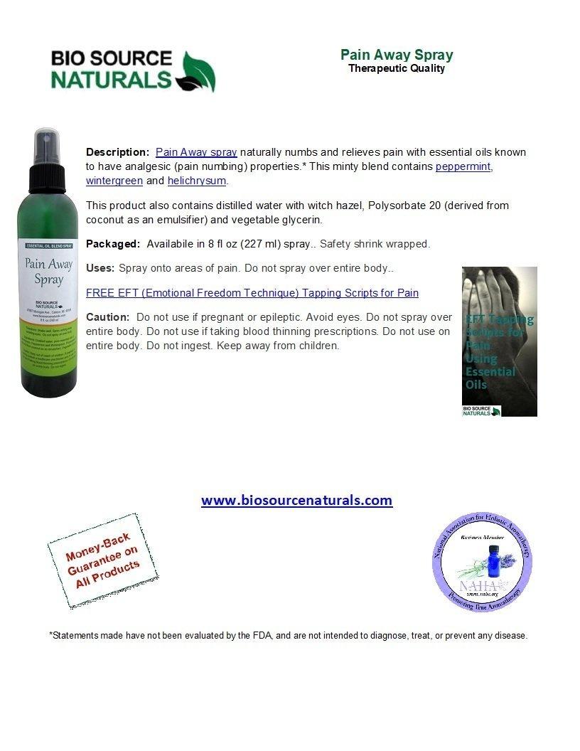 Pain Away Spray Product Bulletin