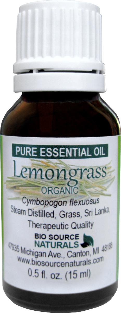 Lemongrass, Organic Pure Essential Oil