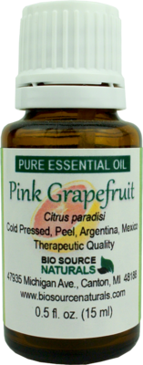 Pink Grapefruit Pure Essential Oil with Analysis Report
