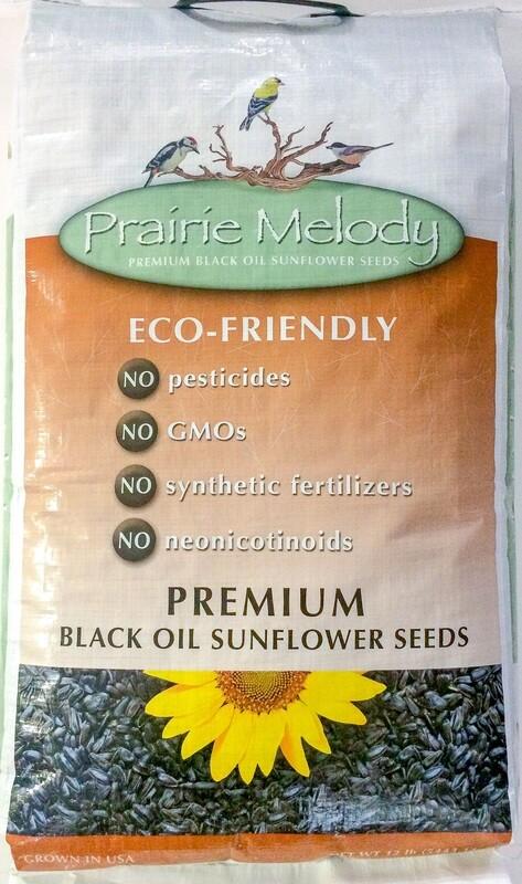 ** FREE SHIPPING ** Premium Black Oil Sunflower Bird Seed, Pesticide Free, 12-Pound Bag