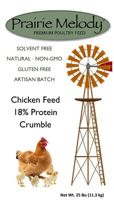 ** FREE SHIPPING ** Prairie Melody Poultry Feed - Gluten Free, NonGMO, Solvent Free - 25 lb -